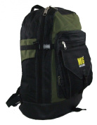 Large Black and Khaki Backpack Rucksack Bag, Sports, Holidays, Hiking, School Etc.