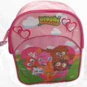 Pink Moshi Monsters Kids School Bag Backpack Rucksack Shoulder Bag