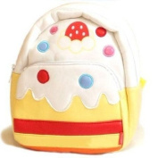 Linda Linda White Cake Kids Bag, Little Kid Backpack, Children School Bag and Travel Bag