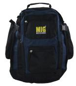 Mens Large Black & Navy Backpack Rucksack Bag For School Work Travel Sports