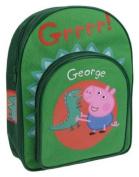 Peppa Pig George Green Kids School Bag With Front Pocket Backpack Rucksack