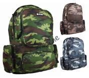 Mens Boys Womens Hi-Tec Camouflage Work School Gym Backpack