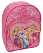Disney Princess Glow Backpack School Bag Rucksack with Heart Pocket