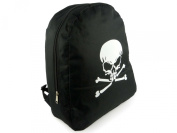 Boys Black Skull & Crossbones BACKPACK RUCKSACK School Bag SportNEW