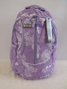 Girls Lilac Hi-Tec School Rucksack College Student Backpack Shoulder Bag Holds A4