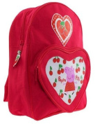 Peppa Pig - Cherries Backpack School Bag with Heart front Pocket