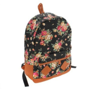 Canvas Vintage Flower Backpack