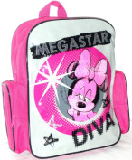 DISNEY MINNIE MOUSE BACKPACK - MINNIE MOUSE MEGA STAR TODDLER SIZE SCHOOL BAG