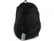 Hi-Tec Large Mens Boys Black BACKPACK RUCKSACK School or College Bag Travel