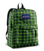 Jansport Superbreak Backpacks - Hedge Green Frontier Plaid