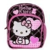 Black and Pink Hello Kitty Mini Backpack - Hello Kitty School Bags
