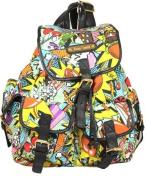 Punk Pop Art Print Twin Pocket Backpack / Rucksack / School Bag