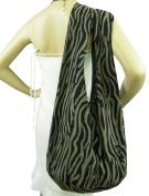 BenThai Products Zebra Cotton Bag Purse Hobo Hippie Sling Crossbody Messenger School bags XL Gift Black Z1