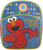 Sesame Street Elmo Backpack - Kid Size Elmo School Backpack - Time To Learn