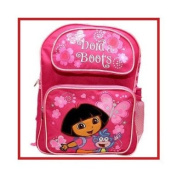 Dora the Explorer Dora & Boots Pink Butterfly School Backpack