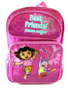 Backpack - Dora the Explorer - Running w/Boots Flowers (Large Bag) New 39497