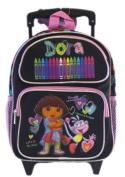 Dora The Explorer Small Rolling BackPack - Dora Small Rolling School Bag