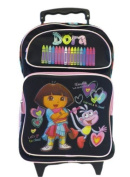 Dora The Explorer Large Rolling BackPack - Dora Large Rolling School Bag