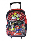 Mario Kart Rolling BackPack - Mario Kart Large Rolling School Bag