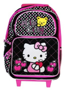 Hello Kitty Rolling BackPack - Sanrio Hello Kitty Rolling School Bag Large