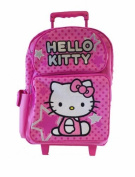 Hello Kitty Rolling BackPack - Sanrio Hello Kitty Large Rolling School Bag