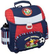 amaro 3109-70_74 Children's School Bag 34 x 36 x 17 cm Blue with Football Theme