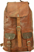 Backpack Gusti Genuine Leather Rucksack Vintage Sling Bag City Campus School Shoulder Bag Leisure Bag Brown Unisex U29