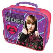 Girls Boys Kids Teeny Bopper Genuine Justin Bieber Pop Singer Merchandise Purple School Lunch Bag Pink Purple Red