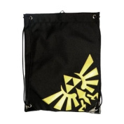 Official ZELDA Drawstring GYM BAG School Nintendo Gold Logo