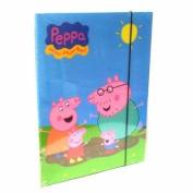 CARTELLA CON ELASTICO PEPPA PIG