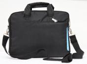 Laptop notebook slim shoulder bag messenger lightweight carry case Apple Macbook 33cm 34cm travel school business-Black