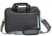 Laptop notebook slim shoulder bag messenger lightweight carry case Apple Macbook 33cm 34cm travel school business-Grey