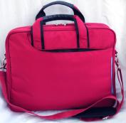 Laptop notebook slim shoulder bag messenger lightweight carry case Apple Macbook 33cm 34cm travel school business- Red