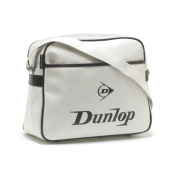 Dunlop Bag School Shoulder Flight Bag - Original White Black Logo