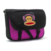 Paul Frank Bag Messenger Satchel School Bag - Headphones Black Pink