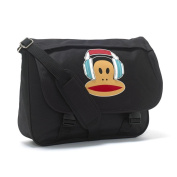 Paul Frank Bag Messenger Satchel School Bag - Headphones Black Blue