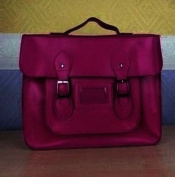 Unisex Vintage Faux Leather Large Satchel/School Bag/Messenger Bag