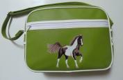 Pony Maloney horse messenger shoulder retro school or sport bag