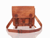 Small Leather Satchel Messenger Bag - Lorton & Horn - Laptop Bag Briefcase School Work University