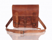 Medium Leather Satchel Messenger Bag - Lorton & Horn - Laptop Bag Briefcase School Work University