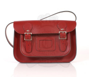28cm Red English Satchel - Classic Retro Fashion laptop / school bag