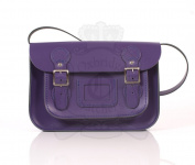 28cm Purple English Satchel - Classic Retro Fashion laptop / school bag