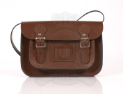 28cm Light Brown English Satchel - Classic Retro Fashion laptop / school bag
