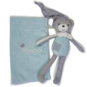 Kaloo Zen - Baby Cuddly Toy : Aqua Bear with Small Bag