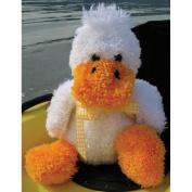 Huggables Duck Stuffed Toy Latch Hook Kit-38cm Tall