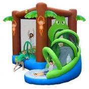 Crocodile Airflow with Slide Bouncy Castle 9113 - Brand New 2011 Model -By Duplay The No.1 Supplier To The Home UK Bouncy Castle Market- SALE NOW ON!