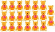 Viskey 20pcs Bears Baby Bath Tub Bathing Rubber Squeaky Toys