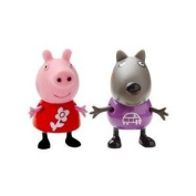 Peppa Pig Theme Park Figures Peppa with flower motif and Dog with car motif