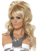 60's Beauty Queen Wig, Blonde, Long with Bouffant and Fringe