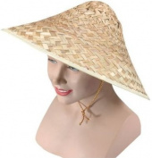 Coolie Hat. Straw